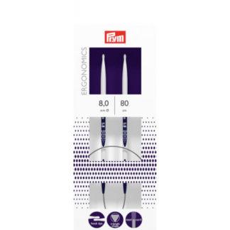 Prym Ergonomics Rundpinde Plast 80cm 8,00mm / 31.5in US11