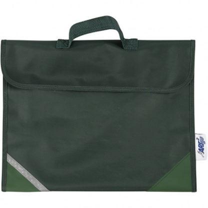 Skoletaske, str. 36x29 cm, dybde 9 cm, grøn, 1stk.