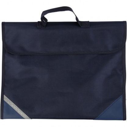 Skoletaske, str. 36x29 cm, dybde 9 cm, mørk blå, 1stk.