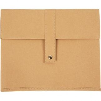 Taske, L: 26,5 cm, H: 22 cm, lys brun, 1stk., tykkelse 350 g