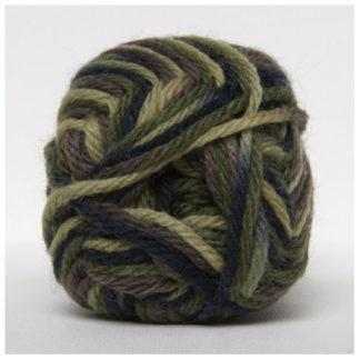 Hjertegarn Ragg-strømpegarn Print 7716 Mørkegrøn/Brun