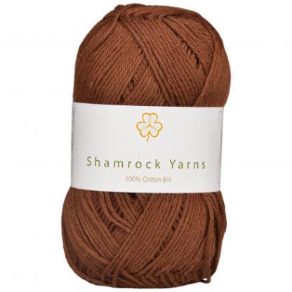 Shamrock Yarns 100% Bomuld 8/4 Garn 08 Mørkebrun