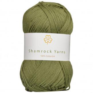 Shamrock Yarns 100% Bomuld 8/4 Garn 14 Støvet Armygrøn