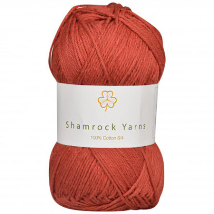 Shamrock Yarns 100% Bomuld 8/4 Garn 22 Rustrød