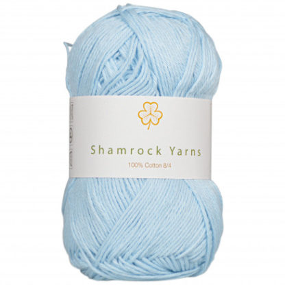 Shamrock Yarns 100% Bomuld 8/4 Garn 27 Lyseblå