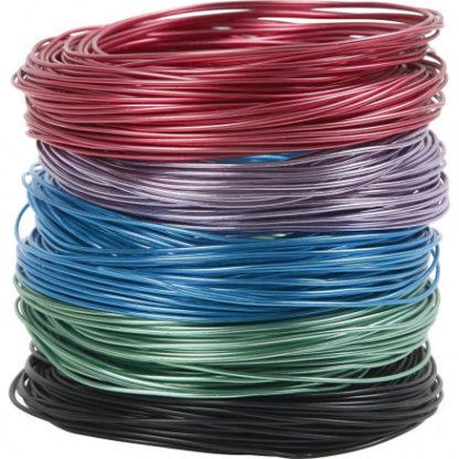 Bonzaitråd, tykkelse 1,5 mm, ass. farver, 5x20m