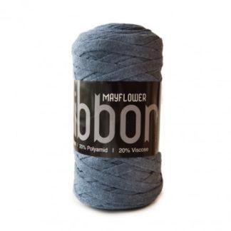 Mayflower Ribbon Stofgarn Unicolor 127 Jeansblå