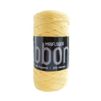 Mayflower Ribbon Stofgarn Unicolor 128 Sart Gul