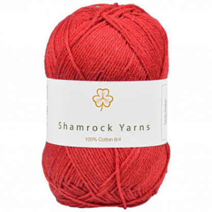 Shamrock Yarns 100% Bomuld 8/4 Garn 21 Mørk Julerød