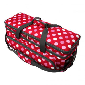 Infinity Hearts Opbevaringstaske Rød med Prikker 57x20x20cm