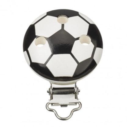 Seleclips Fodbold Sort/Hvid 37x11,5mm - 1 stk