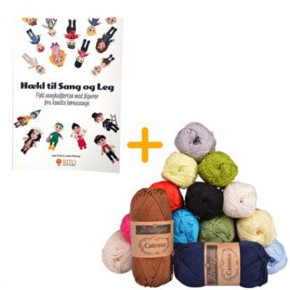 Bogen Hækl til Sang og Leg + Garnpakke til alle opskrifter - Scheepjes