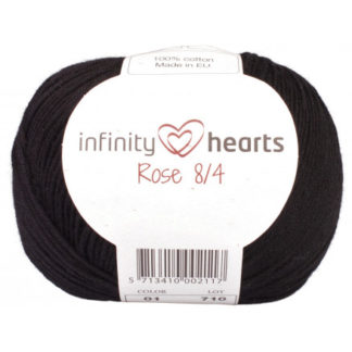 Infinity Hearts Rose 8/4 Garn Unicolor 01 Sort