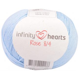 Infinity Hearts Rose 8/4 Garn Unicolor 81 Lyseblå