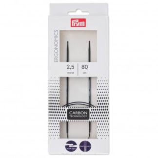 Prym Ergonomics Rundpind Carbon 80cm 2,50mm