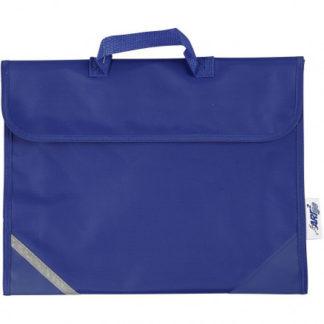 Skoletaske, str. 36x29 cm, dybde 9 cm, blå, 1stk.